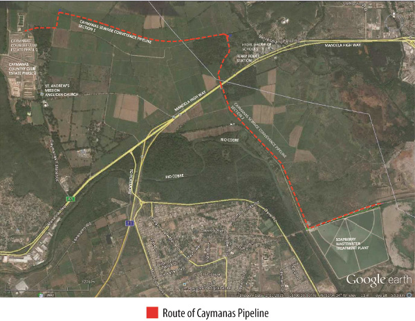 Caymanas Pipeline Works to Commence by End of May 2015