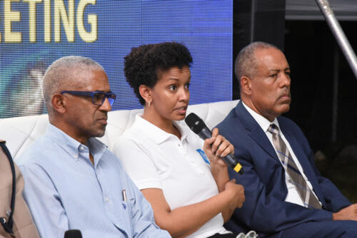 Heather-Pinnock,-UDC's-General-Manager-responds-to-question-at-Port-Royal-Community-Sensitization-Meeting